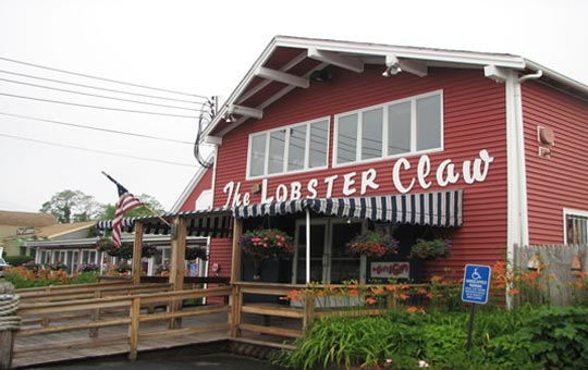 The Lobster Claw restaurant exterior